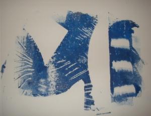 "Untitled, Russell Steven Powell monoprint, 10""x8"""
