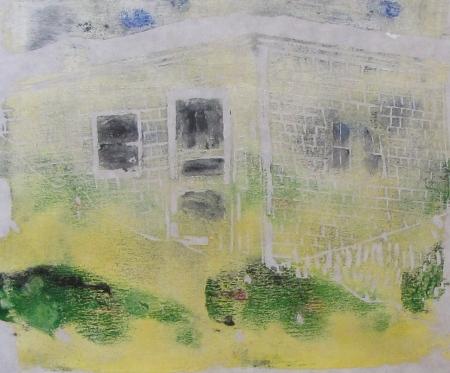 Euphoria Fog, Russell Steven Powell linoprint, 10x8