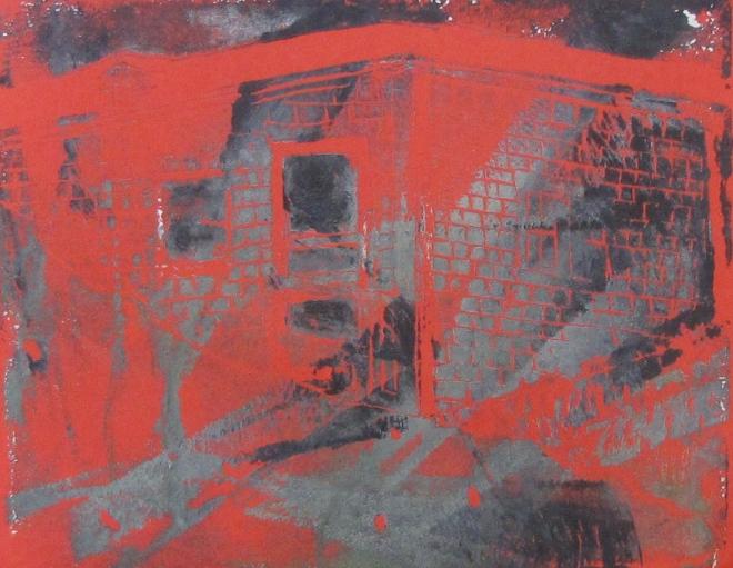 Euphoria Wind, Russell Steven Powell linoprint, 10x8