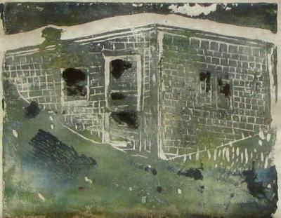 Euphoria Spring, Russell Steven Powell linoprint, 10x8