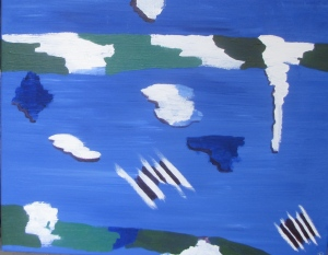 Weather Pattern, Russell Steven Powell acrylic on canvas, 20x16