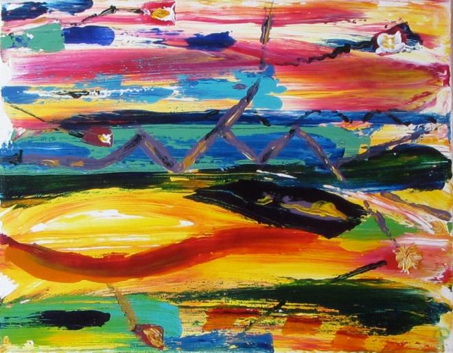 3, Russell Steven Powell acrylic on canvas, 14x11
